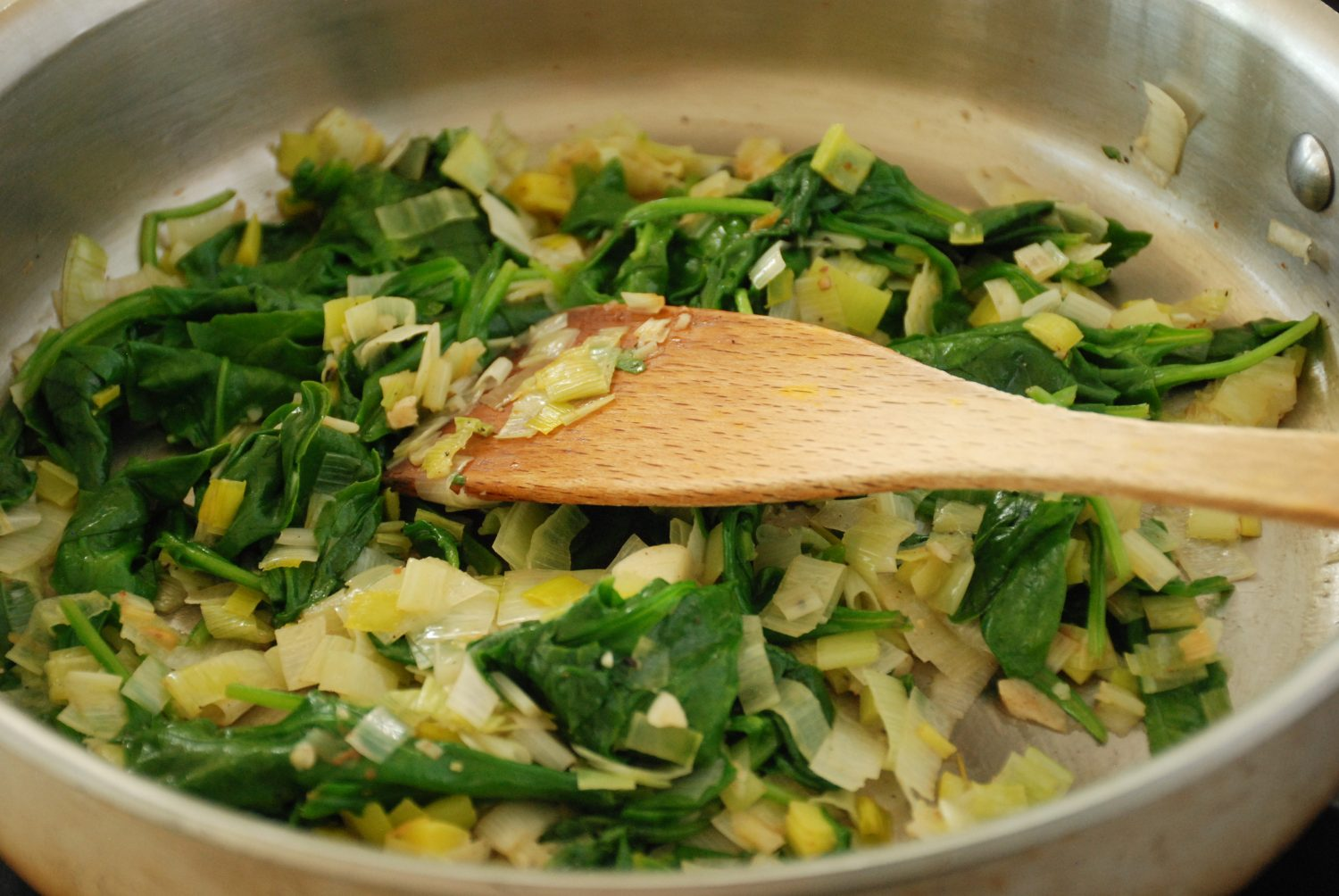 Spinach and Leeks