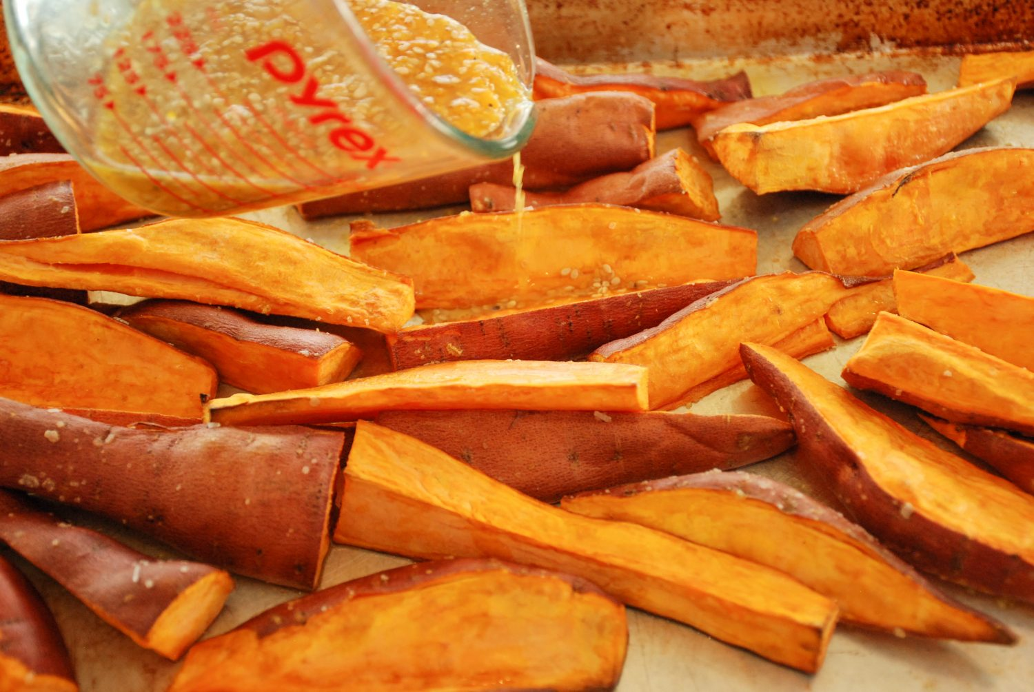 Roasting Sweet Potato with Sauce