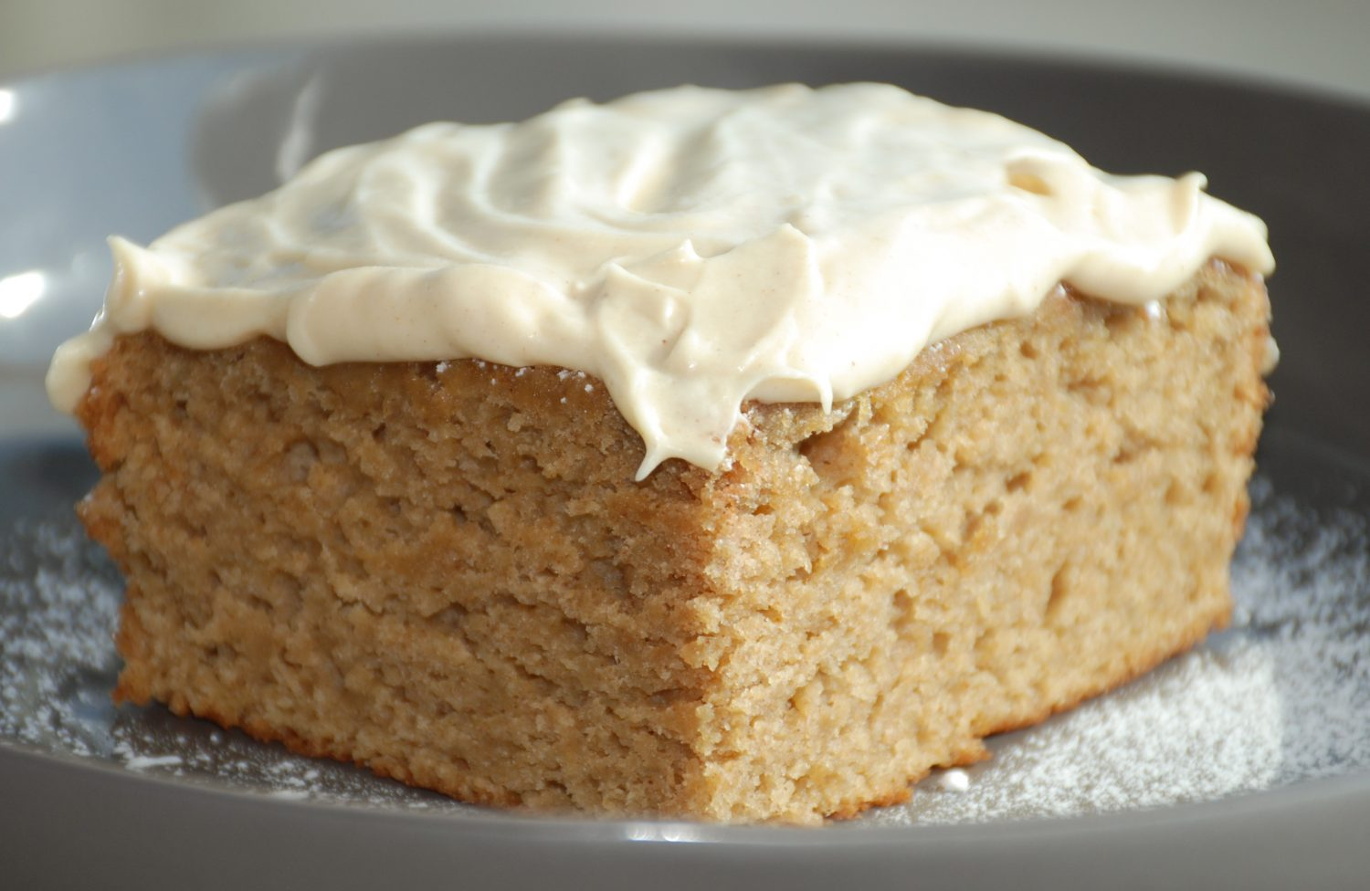 Bourbon Apple Cake with Maple Cinnamon Frosting
