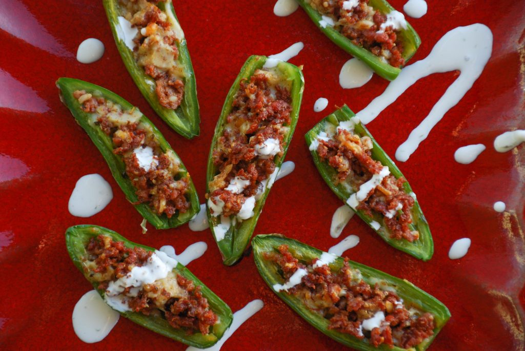 Sausage & Cheese Stuffed Jalapeños