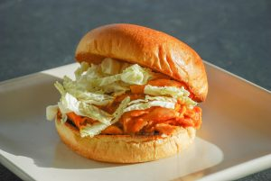 Pulled Chicken Sandwiches with Mango Barbecue Sauce