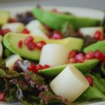 Hearts of Palm, Avocado & Pomegranate Salad