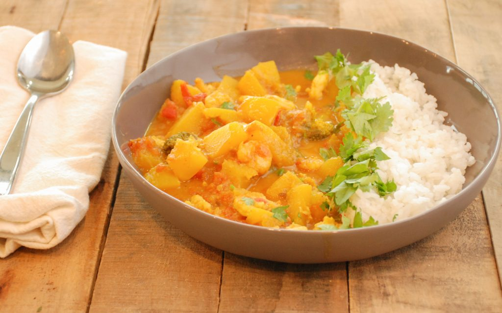 Shrimp & Pumpkin Coconut Curry
