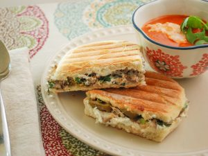 Crab & Goat Cheese Panini