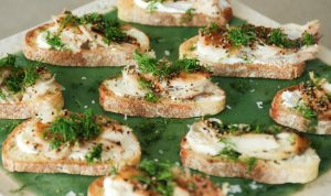 Clare's Smoked Mackerel Toasts
