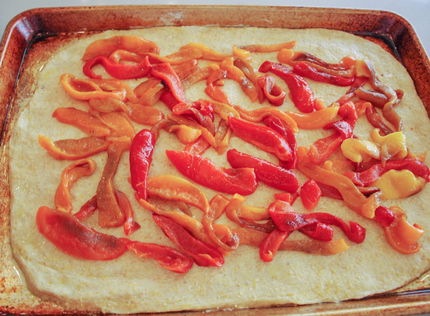 Peppers on tart