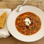 Winter Squash & Black Bean Turkey Chili