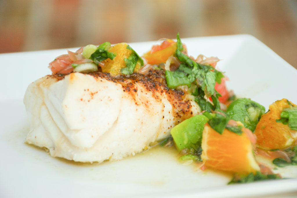 Grouper with Citrus Tequila Salsa