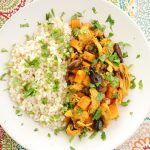 Moroccan Chicken Stew with Pearl Couscous