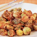 Roasted Brussels Sprouts in a Sriracha Peanut Sauce - 2