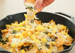 Crab, Pineapple & Black Bean Nachos