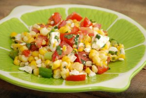 Sweet Corn Salad with Feta & Mint