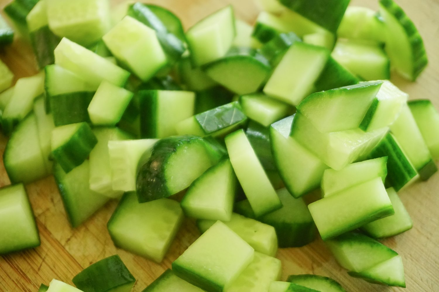 Diced Cucumber