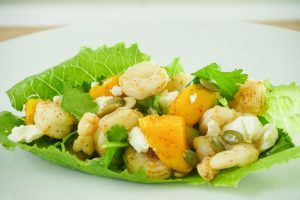 Mango and Shrimp Lettuce Tacos