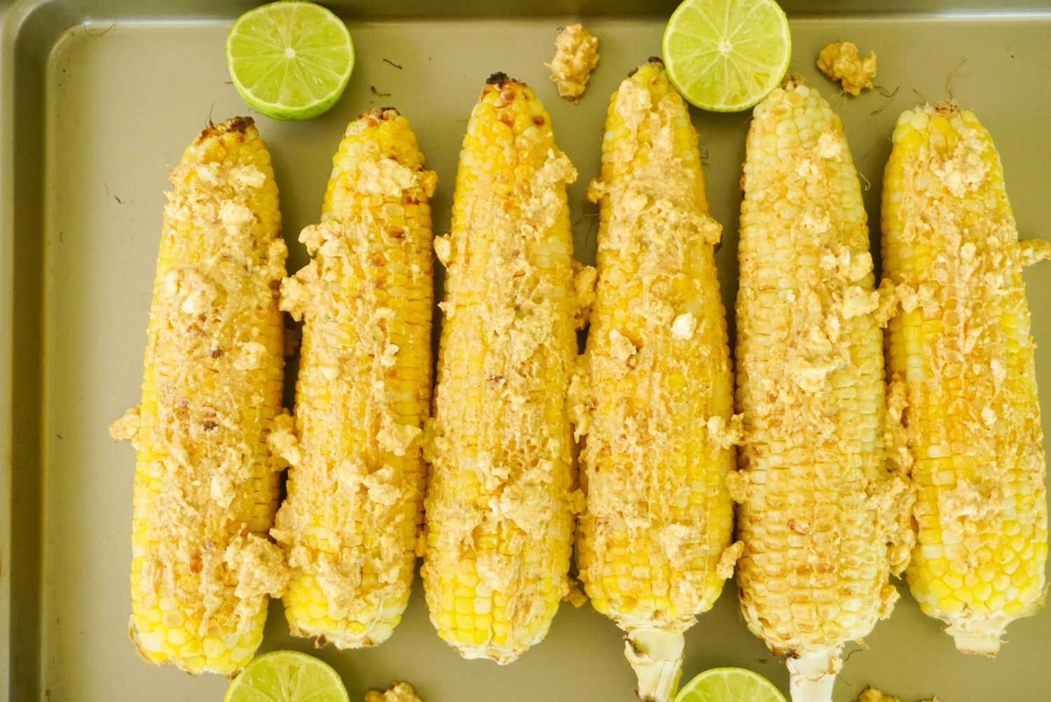 Sheet Pan Corn with Zesty Lime & Feta