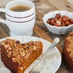 Pumpkin Coffee Cake with Hazelnut Streusel