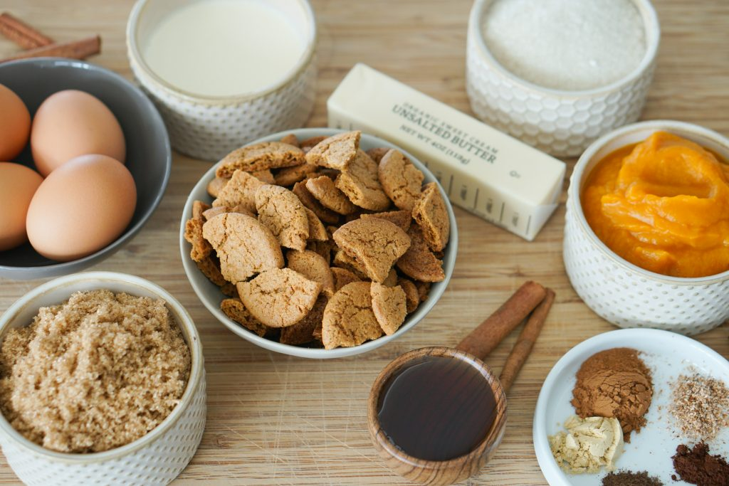 Gingersnaps and other ingredients