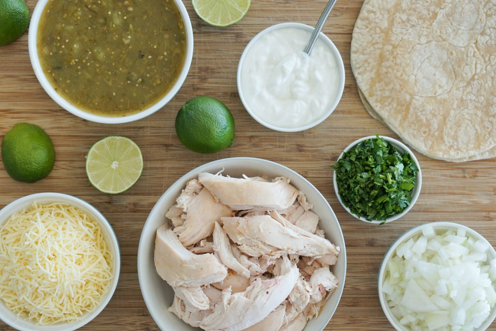 Turkey salsa and other ingredients