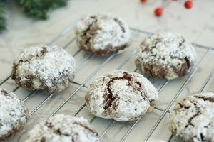 Close up of chocolate peppermint crackle