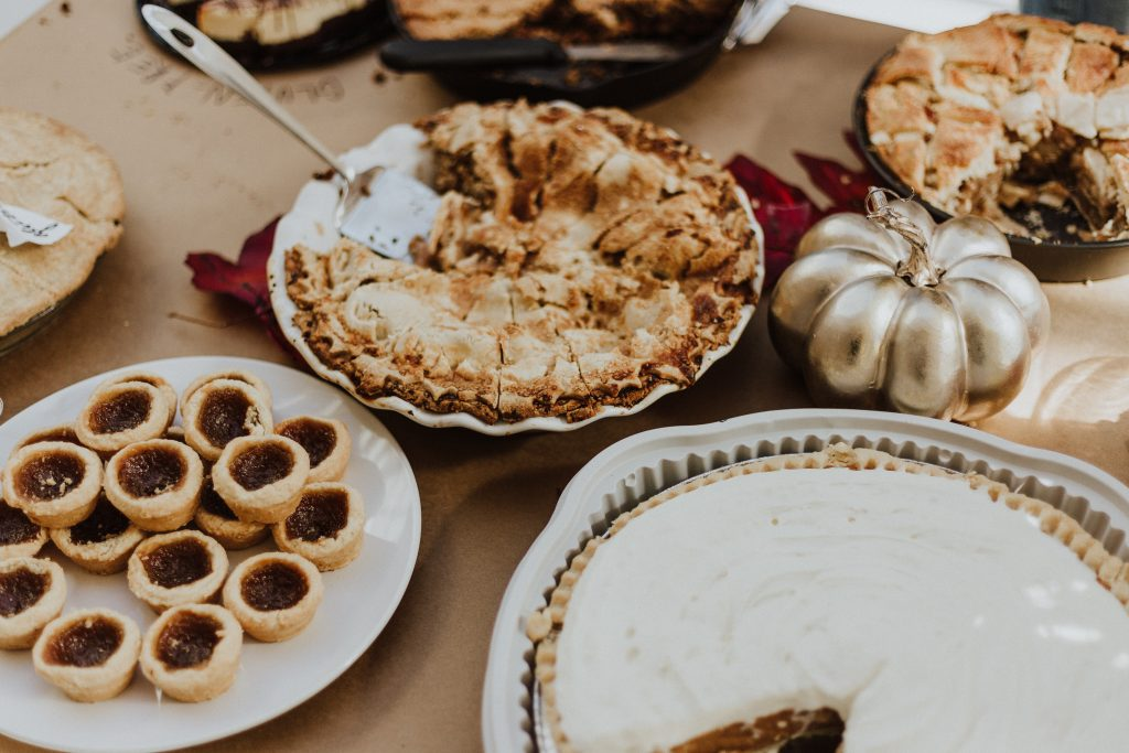 Pastries on a thanksgiving table