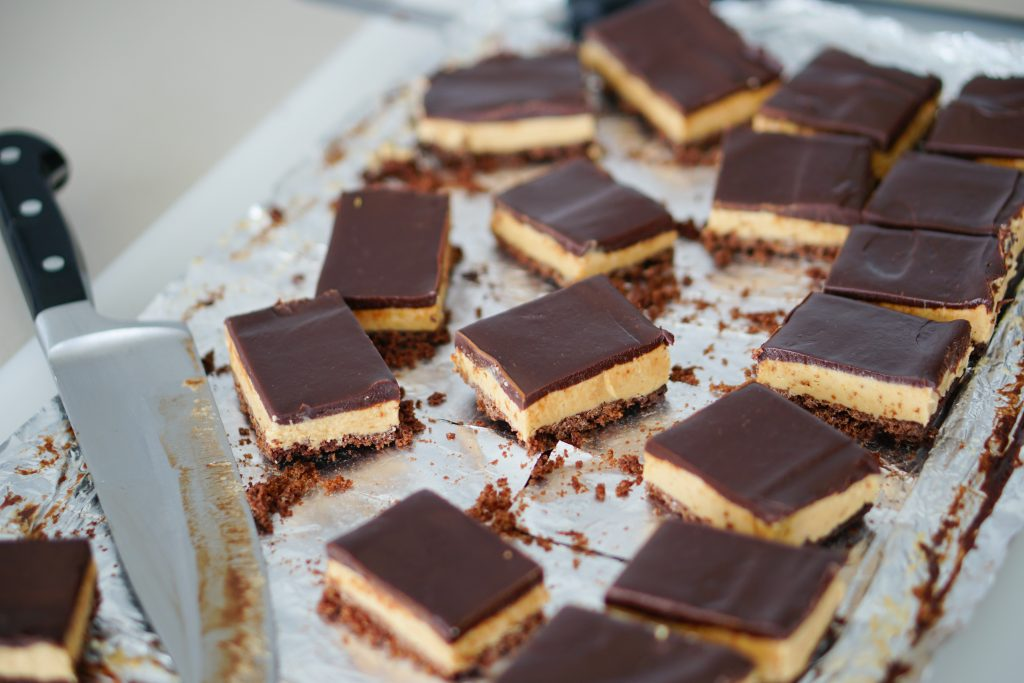 Triple Layer Peanut Butter Crunch Bars