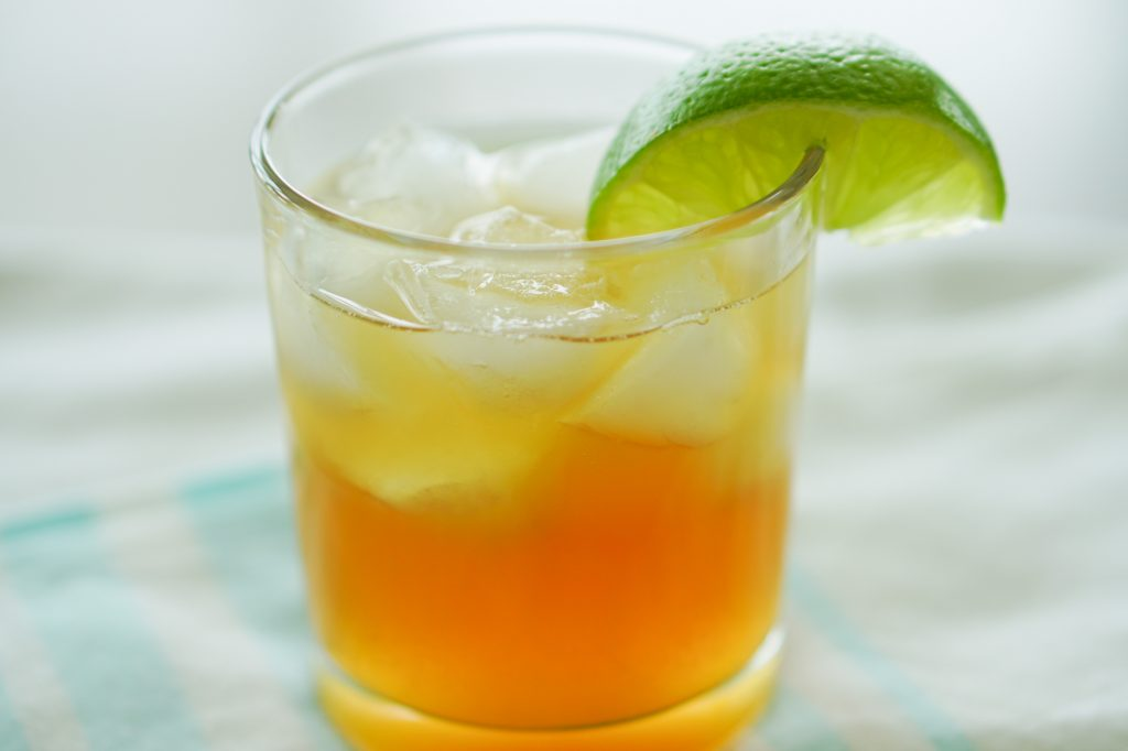 The Southerly cocktail with lime on rim