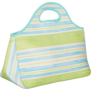 Key Lime Lexi Stripe Print Lunch Tote