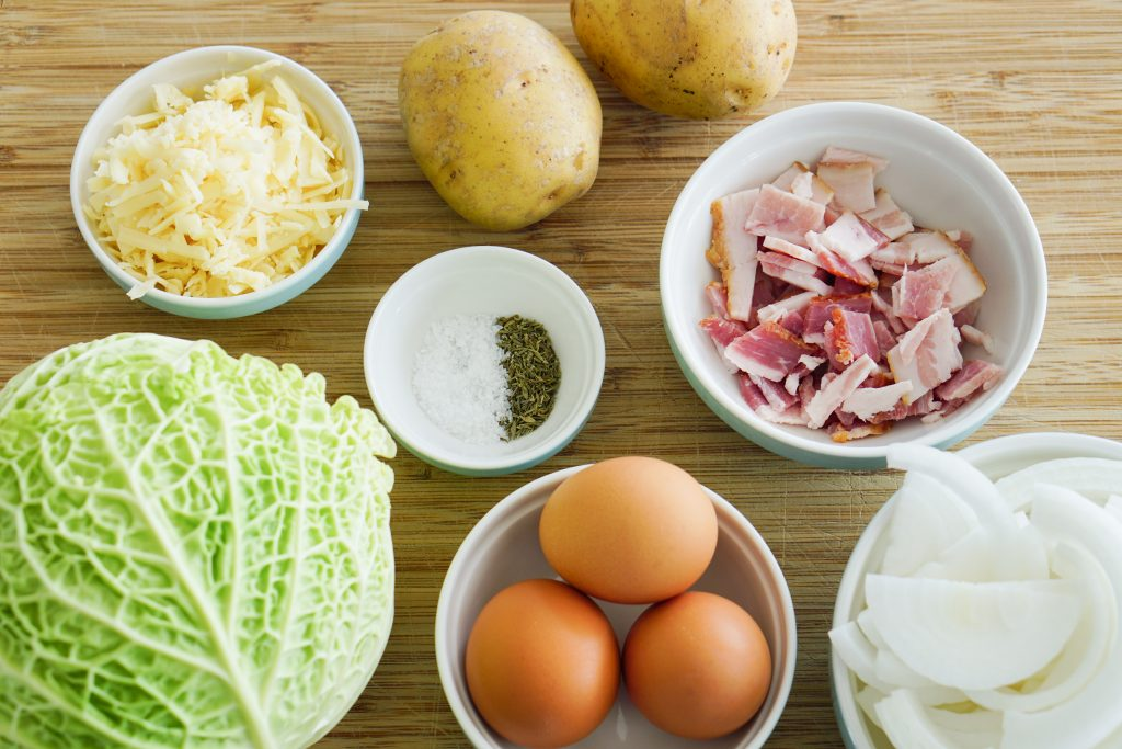 Ingredients for Cabbage Pie