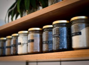 Pantry items in jars