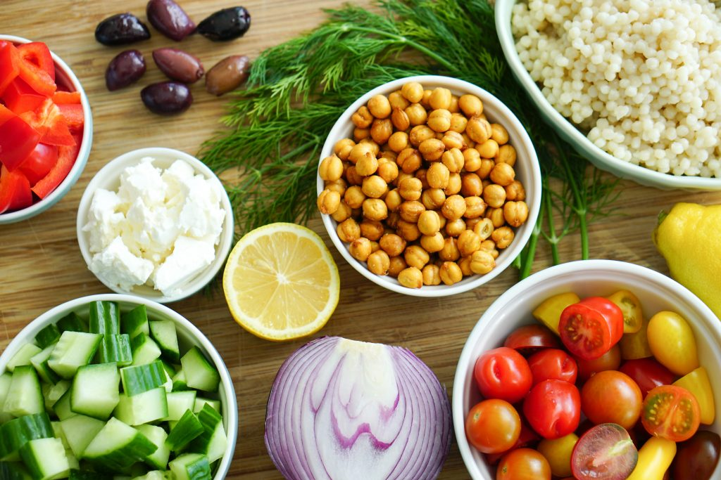 Ingredients for Greek-Style Couscous Salad