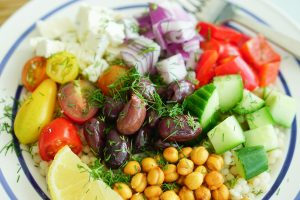 Close up of Greek-Style Couscous Salad