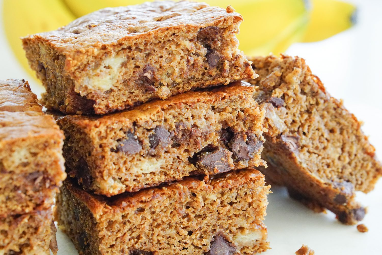 Healthy Banana Almond Butter Snack Bars