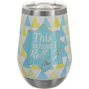 Key Lime Lexi Stainless Steel This Is How I Roll 12 Oz Wine Tumbler