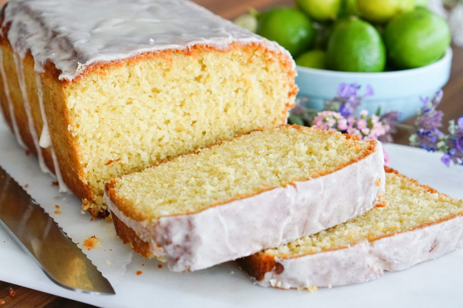 Key Lime Glazed Buttermilk Pound Cake