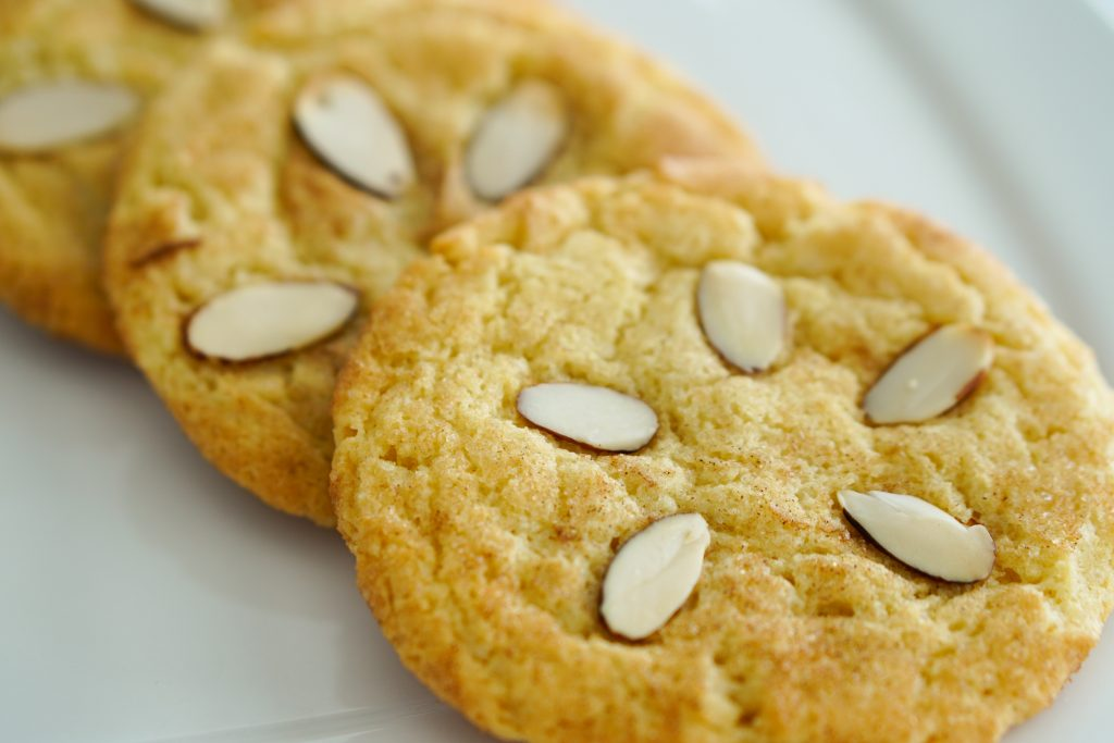 Sand Dollar Cookies stacked on a plate